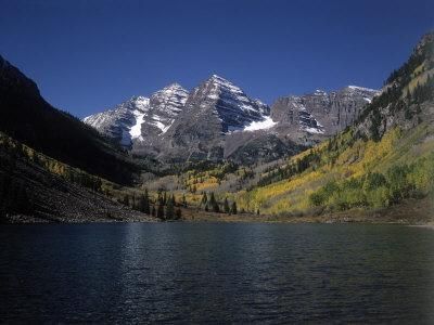Mountains with Sky and Water, Maroon Bells, CO