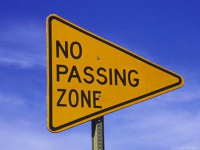 """Sign for """"No Passing Zone"""""""
