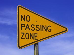 "Sign for ""No Passing Zone"" by Chris Rogers"
