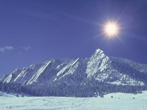 The Flatirons Near Boulder, CO, Winter by Chris Rogers