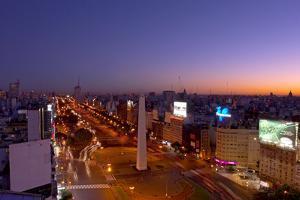 Argentina, Buenos Aires, Avenida 9 De Julio, Plaza of De La Republica, Obelisk by Chris Seba