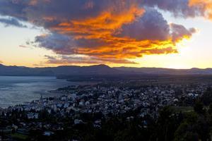 Argentina, Patagonia, Bariloche, Panoramic View, Sunrise, Red Sky by Chris Seba
