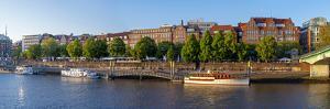 Banks of Weser, Martinianleger (Downtown Pier), Bremen, Germany, Europe by Chris Seba