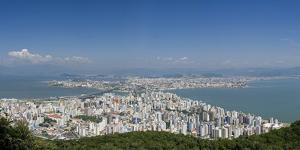 Brazil, Florianopolis, View over the City, South America, Latin America by Chris Seba