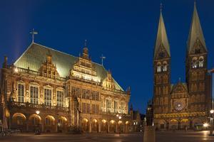 City Hall, Cathedral, Rathausplatz, Bremen, Germany, Europe by Chris Seba