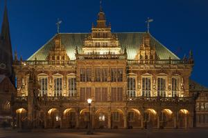 City Hall, Rathausplatz, Bremen, Germany, Europe by Chris Seba