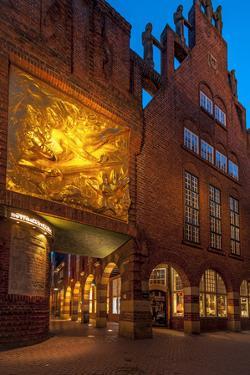 Entrance Bšttcherstrasse (Street), Old Town, Bremen, Germany, Europe by Chris Seba