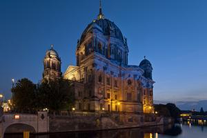 Europe, Germany, Berlin, Berlin Cathedral on the Spreekanal by Chris Seba