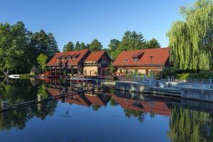 Europe, Germany, Brandenburg, Spreewald (Spree Forest), LŸbben, Harbour Basin by Chris Seba