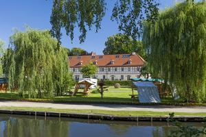 Europe, Germany, Brandenburg, Spreewald (Spree Forest), L?bbenau, Canal, Castle Manor by Chris Seba