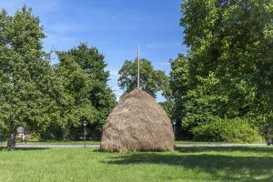 Europe, Germany, Brandenburg, Spreewald (Spree Forest), Leipe, Traditional Haycock by Chris Seba