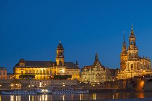 Europe, Germany, Dresden, Elbe River, Saxon by Chris Seba