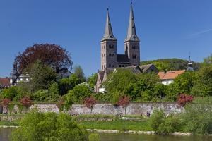 Europe, Germany, Eastern Westphalia, Hšxter, Weser Shore, Town Church by Chris Seba