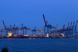 Europe, Germany, Hamburg, Hamburg Harbour, Lading Port by Chris Seba