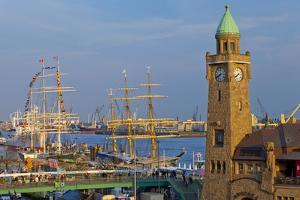 Europe, Germany, Hamburg, Harbour, Gangplanks, Harbour Festival, Sailing Ships by Chris Seba