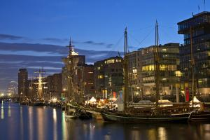 Europe, Germany, Hamburg, Harbour, Sailing Ships by Chris Seba