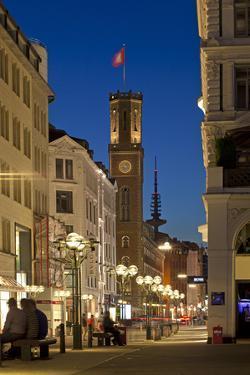 Europe, Germany, Hamburg, Shopping Street by Chris Seba
