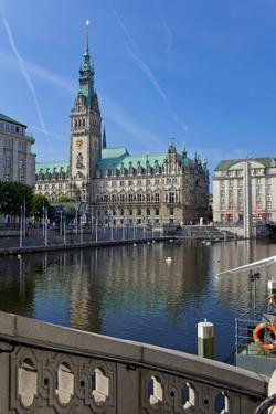 Europe, Germany, Hamburg, Townhall by Chris Seba