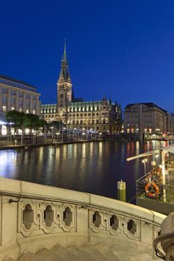 Europe, Germany, Hamburg, Townhall by Chris Seba