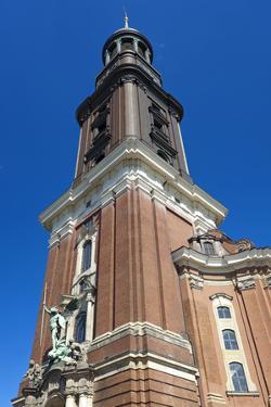 Europe, Germany, Hanseatic Town, Hamburg, Bell Tower Hamburger Michel by Chris Seba