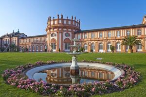 Europe, Germany, Hesse, Wiesbaden, Schloss Biberach on the Bank of the Rhine by Chris Seba