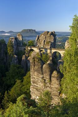 Europe, Germany, Saxony, Bastion, Sunrise by Chris Seba