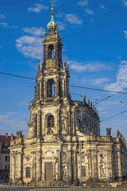 Europe, Germany, Saxony, Dresden, Elbufer (Bank of the River Elbe), Cathedral by Chris Seba