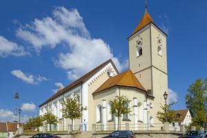 Europe, Germany, the Bavarian Forest, Upper Palatinate, Rštz, Parish Church St. Martin by Chris Seba