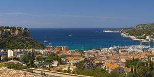 Europe, South of France, Mediterranean Coast, Cassis, Harbour Bay, Sailboats by Chris Seba