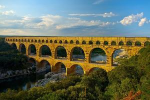 Europe, South of France, Provence, Avignon, Pont Du Gard, Aqueduct by Chris Seba