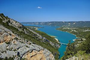 Europe, South of France, Provence, Verdon Gorge, Lake Lac Ste. Croix by Chris Seba