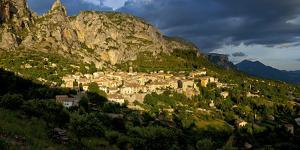 Europe, South of France, Provence, Verdon Gorges, Moustiers-Ste. Marie, Sunset by Chris Seba