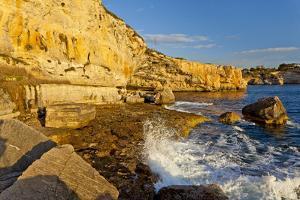 Europe, Spain, Majorca, Cala Llombards, Rocky Cliff by Chris Seba