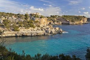 Europe, Spain, Majorca, Cliff-Lined Bay Cala Llombards by Chris Seba
