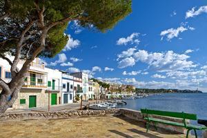 Europe, Spain, Majorca, Fishing Village Porto Colom, Harbour by Chris Seba