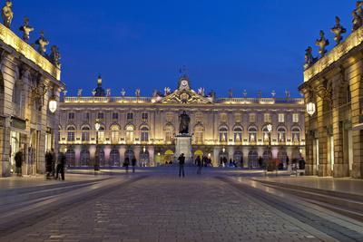 France, Alsace, Nancy, Place De Stanislas, Evening