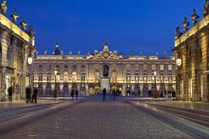 France, Alsace, Nancy, Place De Stanislas, Evening by Chris Seba