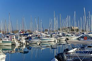 France, Cote D'Azur, Antibes, Harbour, Sailboats by Chris Seba