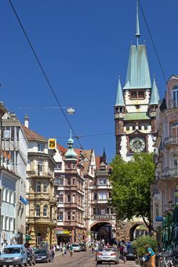 Germany, Baden-WŸrttemberg, Breisgau, Freiburg, Old Town, Martinstor by Chris Seba