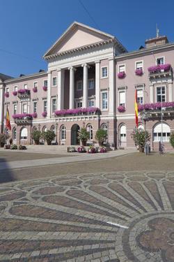 Germany, Baden-WŸrttemberg, Karlsruhe, Marketplace, City Hall, Stone Mosaic by Chris Seba
