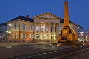 Germany, Baden-WŸrttemberg, Karlsruhe, Rondellplatz, MarkgrŠfliches Palais by Chris Seba