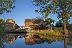 Germany, Brandenburg, Spreewald (Spree Forest), Schlepzig, Restaurant Along Canal by Chris Seba