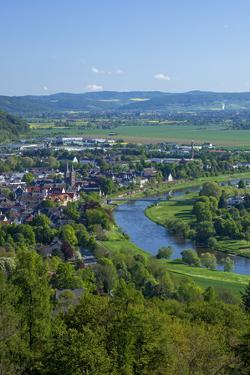 Germany, Eastern Westphalia, City of Hšxter, the Weser by Chris Seba