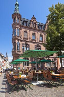 Germany, Heidelberg, Old Town, Gastronomy by Chris Seba