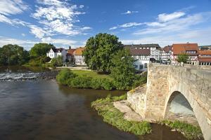 Germany, Hessen, Northern Hessen, Melsungen, Fulda, BartenwetzerbrŸcke by Chris Seba