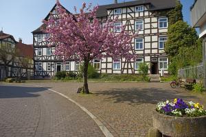 Germany, Hessen, Northern Hessen, Melsungen, Historical Old Town by Chris Seba