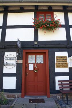 Germany, Hessen, Wahlsburg, Lippoldsberg, Museum, Solingbahn, Facade, Detail by Chris Seba