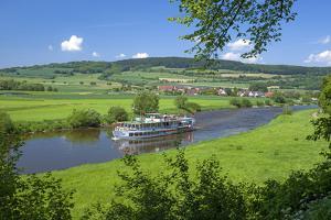 Germany, Lower Saxony, Weser Uplands, Weser Cruise Vessel by Chris Seba
