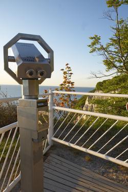 Germany, Mecklenburg-Western Pomerania, Island RŸgen, National Park Jasmund, Lookout, Telescope by Chris Seba