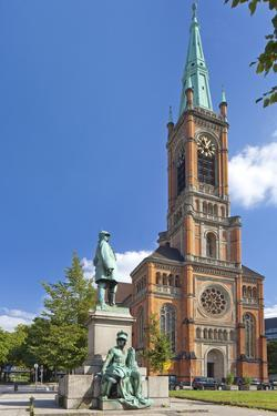 Germany, North Rhine-Westphalia, Dusseldorf, Martin Luther Square, St. John's Church by Chris Seba